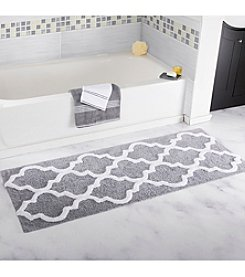 Lavish Home Trellis Bathroom Mat