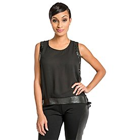 Poetic Justice Alexis Sleeveless Side Lace Top