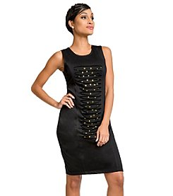 Poetic Justice Sasha Ponte Jersey Cut-Out Dress
