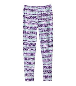 Miss Attitude Girls' 7-16 Geo Striped Leggings