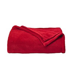 LivingQuarters Crimson Micro Cozy Throw