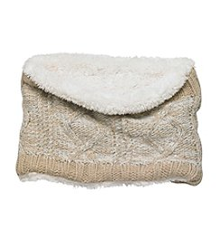 Cejon® Two-tone Cable Sherpa Scarf