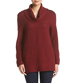Eight Eight Eight® Mixed Stitch Cowlneck Sweater