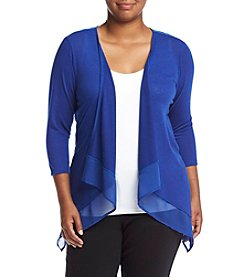 Studio Works® Plus Size Cardigan With Chiffon Hem