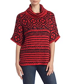Relativity® Patterned Cowlneck Sweater