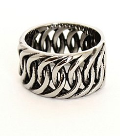 Steel Impressions Twisted Stainless Steel Ring