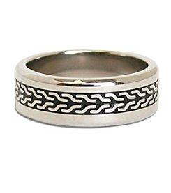 Steel Impressions Stainless Steel Tire Track Ring