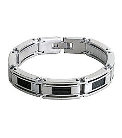 Steel Impressions Stainless Steel Black Cable Bracelet