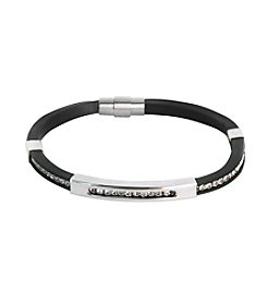 Steel Impressions Stainless Steel Rubber Magnetic Bracelet