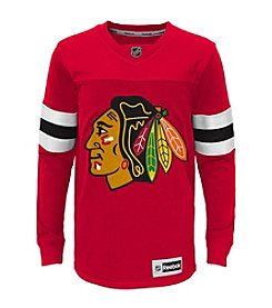Adidas® NHL® Chicago Blackhawks Boys' 8-18 Faceoff Jersey Tee
