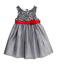 Sweet Heart Rose® Girls' 2T-6X Lace Bodice Shimmer Dress