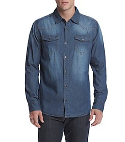 Lazer™ Men's Long Sleeve Chambray Washed Button Down Shirt