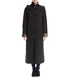 Gallery® Long Rain Coat With Double Collar