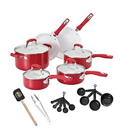 Guy Fieri 21-pc. Red Ceramic Cookware Set