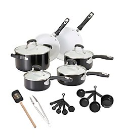Guy Fieri 21-pc. Black Ceramic Cookware Set