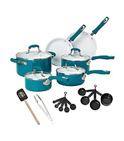 Guy Fieri 21-pc. Teal Ceramic Cookware Set