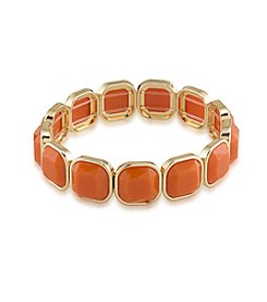 1st & Gorgeous by Carolee Faceted Cabochon Stretch Bracelet