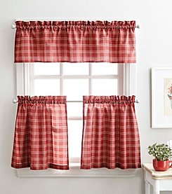 Peri Home® McManus Plaid Tier and Valance