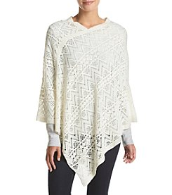 Cejon® Lace Effect V Neck Diamond Poncho