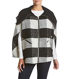 Cejon® Two Tone Oversized Plaid Jacket