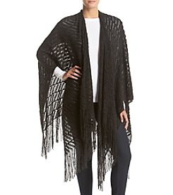 Basha Textured With Fringe Wrap