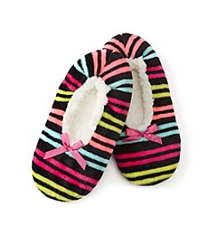 Fuzzy Babba® Ladies' Color Striped Slippers
