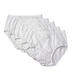 Hanes® 5-Pack White Briefs