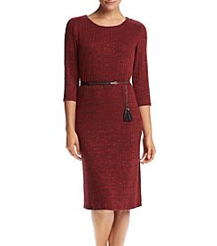 R&M Richards® Petites' Belted Midi Dress