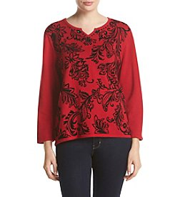 Alfred Dunner® Petites' Wrap It Up Printed Sweater