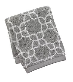 Style Lounge Gray Elaina Jacquard Washcloth