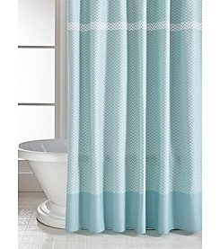 CHF Cotton Chevron Printed Shower Curtain