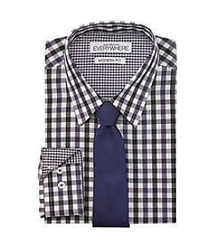 Nick Graham® Men's Purple Gingham Dress Shirt And Tie Set