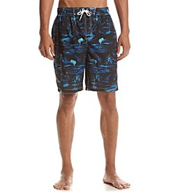 Paradise Collection® Men's Blue Island Swim Trunks