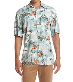 Paradise Collection® Men's Lobster Print Button Down Shirt
