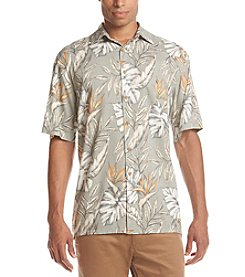 Paradise Collection® Men's Plant Print Button Down Shirt
