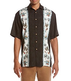Paradise Collection® Men's Pineapple Panel Button Down Shirt