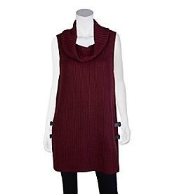 A. Byer Buckle Trim Sweater Vest