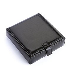 Royce® Leather Cufflink Watch Travel Case