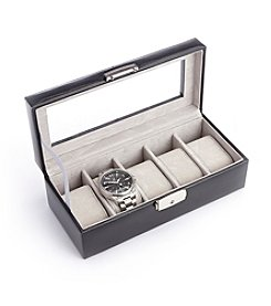 Royce® Leather Luxury 5 Watch Display Case