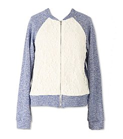 Speechless® Girls' 7-16 Lace Bomber Jacket