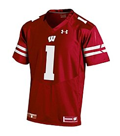 Under Armour® NCAA® Wisconsin Badgers Boys' 8-20 Premier #1 Red Jersey