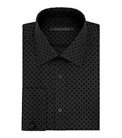 Sean John® Men's Black Flocking Dot Dress Shirt