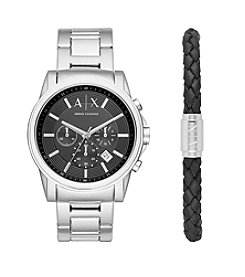 A|X Armani Exchange Stainless Steel H-Link Bracelet Watch