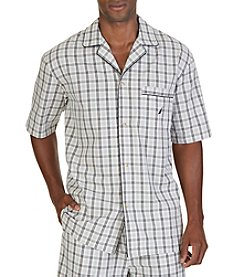 Nautica® Men's Tan Plaid Sleep Shirt
