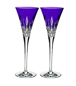 Waterford® Set of 2 Lismore Pops Toasting Flutes