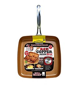 As Seen on TV Red Copper™ Square Dance Pan