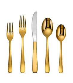 Cambridge Silversmiths 20-pc. Bourne Gold Mirror Flatware Set