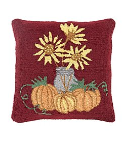 Chic Designs Fall Harvest Sunflower Decorative Pillow