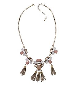 Relativity® Goldtone Statement Tassel Necklace