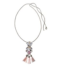 Relativity® Goldtone Long Tassel Necklace